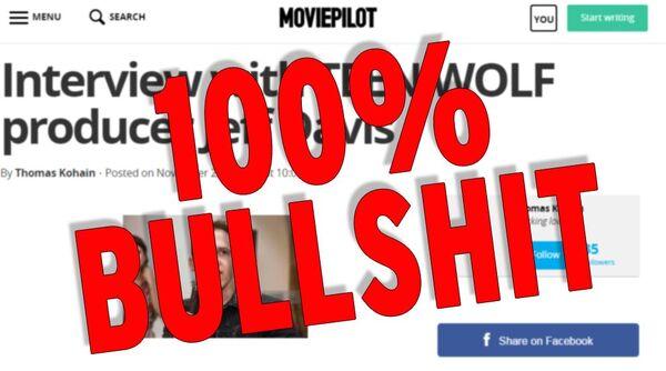 Teen wolf news fake interview response 122015