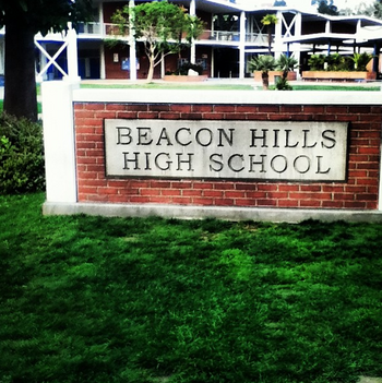 Teen Wolf Season 3 Behind the Scenes Pali High School Beacon Hills HS Sign