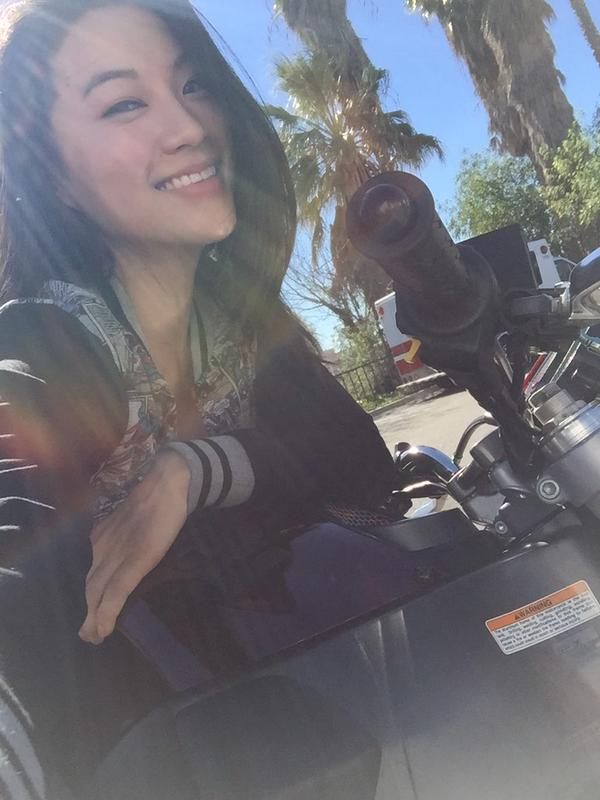 Teen Wolf Season 5 Behind the Scenes Arden Cho motorcycles 021015