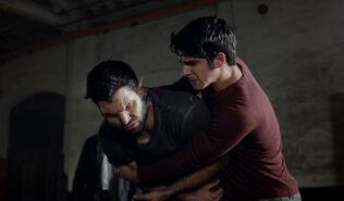 Scott holding Derek