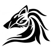 Pochoir-tattoo-loup-tribal