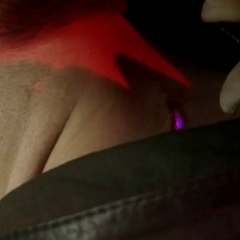 The Alpha checks out the scratches on Jackson's neck