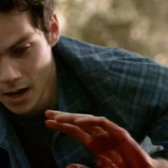 Stiles les main tachées de sang