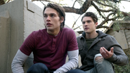 Dylan-Sprayberry-Cody-Christian-Liam-Theo-crouching-Teen-Wolf-Season-6-Episode-16-Triggers