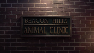 Teen Wolf Behind the Scenes Beacon Hills Animal Clinic Sign