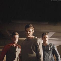 Ethan, Issac et Aiden.