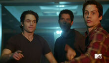 Dylan-O'Brien-Tyler-Posey-Dylan-Sprayberry-Teen-Wolf-Season-6-Episode-10-Riders-on-the-Storm