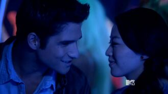 Teen Wolf Season 3 Episode 16 Illuminated Tyler Posey Arden Cho Scott McCall Kira Yukimura At The Party