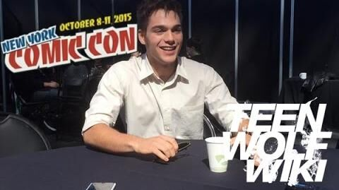 Dylan Sprayberry Teen Wolf Wikia interview NYCC 2015