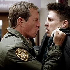 Sheriff Stilinski questioning Jackson in Code Breaker