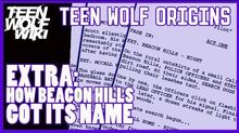 Teen Wolf Origins EXTRA How Beacon Hills Got its Name