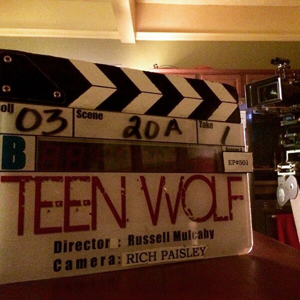Teen Wolf Season 5 Behind the Scenes Episode 501 Marker McCall home set 020915
