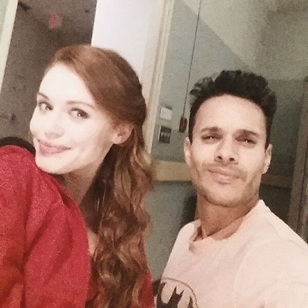 Teen Wolf Season 5 Behind the Scenes Holland Roden and Daniel Flores BH Hospital set 040215