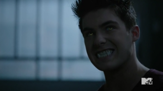 Teen Wolf Season 5 Episode 13 Codominance Theo's eyes and fangs