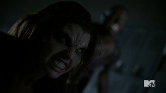Teen Wolf Season 3 Episode 3 Fireflies Adelaide Kane Sinqua Walls Cora and Boyd in the boilerroom