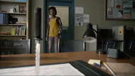 Sibongile-Mlambo-Tamora-Monroe-knife-on-desk-Teen-Wolf-Season-6-Episode-12-Raw-Talent