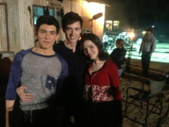 Teen Wolf Season 3 Behind the Scenes Michael Fjordbak Ian Nelson and Madison McLaughlin near Acton California