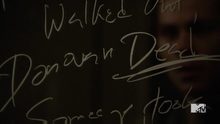 Teen Wolf Season 5 Episode 5 Stiles board