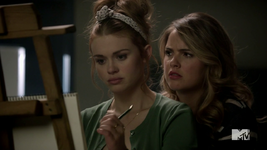 Teen Wolf Season 4 Episode 5 IED Malia hovers over Lydia