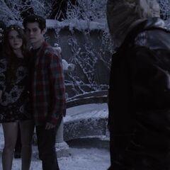Stiles et Lydia dans l'illusion