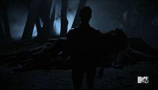 Teen Wolf Season 5 Episode 8 Ouroboros Parrish is a body to the nemeton