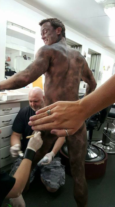 Teen Wolf Season 5 Behind the Scenes Ryan Kelley naked dirt makeup undated