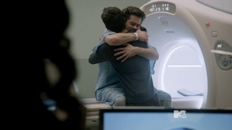 Teen Wolf Season 3 Episode 18 Riddled THE HUG Scott and Stiles