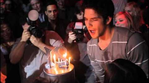 MTV's Teen Wolf, Tyler Posey, Celebrates 21st Birthday at Tryst Nightclub in Las Vegas