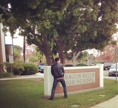 Teen Wolf Behind the Scenes Beacon Hills High Sign