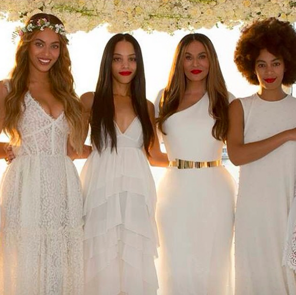 Beyonce-Bianca-Lawson-Solange at Tina-Knowles-and-Richard-Lawson-Wedding