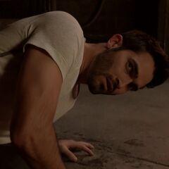 Derek  blessé par Stiles