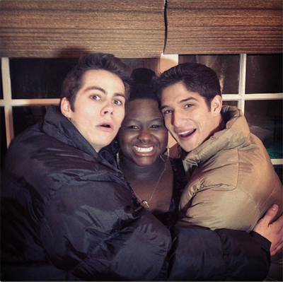 Teen Wolf Behind the Scenes Night Shoot Dylan O'Brien Shantal Rhodes Tyler Posey
