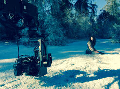 Teen Wolf Season 5 Behind the Scenes Crystal Reed shoots in Griffith Park December 10