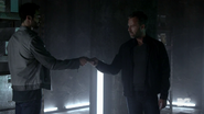 Teen Wolf Season 4 Episode 5 IED Derek and Chris in the vault