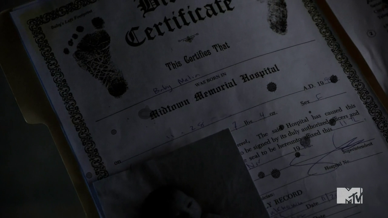Image fixed malias birth certificateg teen wolf wiki fixed malias birth certificateg aiddatafo Images