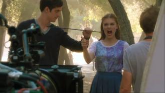 Teen Wolf Season 3 Behind the Scenes Episode 313 Malibu Creek Daniel Sharman Holland Roden Arrow to the neck