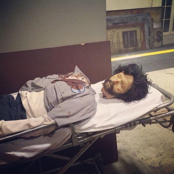 Teen Wolf Season 5 Behind the Scenes dead marco prop body