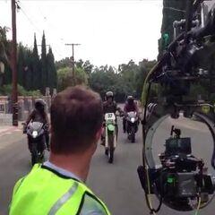 Scott et le jumeaux en motos