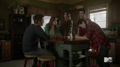 Teen Wolf Season 5 Episode 19 The Beast of Beacon Hills Pack meeting