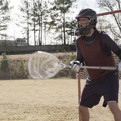 Beim Lacrossespiel steht Scott im Tor