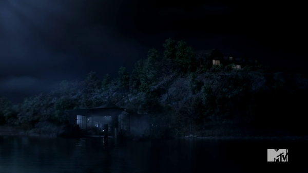 Teen Wolf Season 4 Episode 4 The Benefactor Lydia's Grandmother's Lake House and Boat House