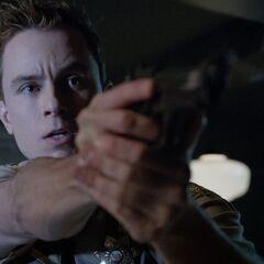 Parrish tirant sur les onis