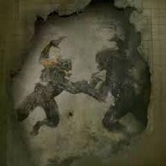 Der Höllenhund (links) gegen <a href=