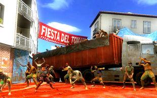 Fiesta del Tomate stage