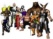 Tekken 1 - Bosses