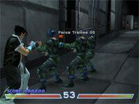 Tekken 4 Tekken Force Mode with Jin Kazama