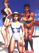 Tekken Artwork, Jun, Nina y Michelle