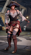 Anna Williams T7 pirate outfit 2