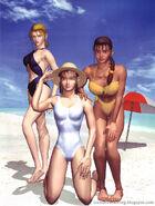 Tekken 2 Nina Jun Michelle on beach