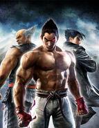 Tekken6 poster Kazuya Heihachi Jin